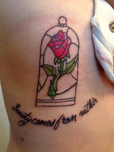 Beauty Comes From Within - Rose Tattoo