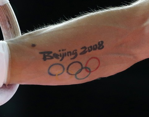 Beijing 2008 Olympic Tattoo On Lower Arm