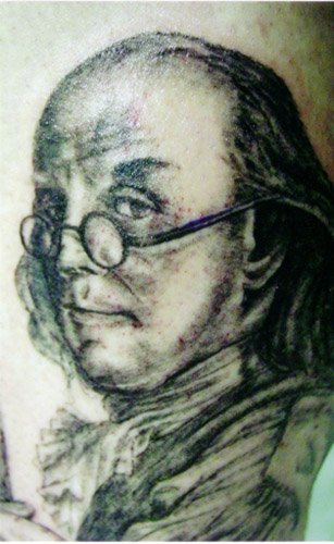 Ben Franklin Portrait - People tattoo