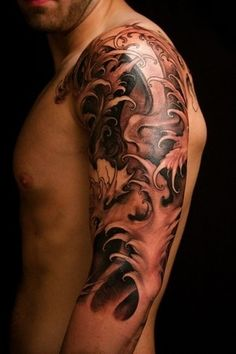 Best Asian Waves Tattoos On Sleeve