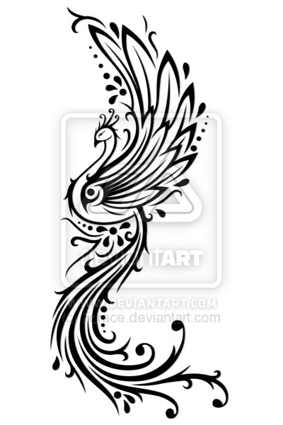 Best Phoenix Tattoo Design For Girls