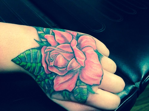 Best Rose Tattoo For Hand