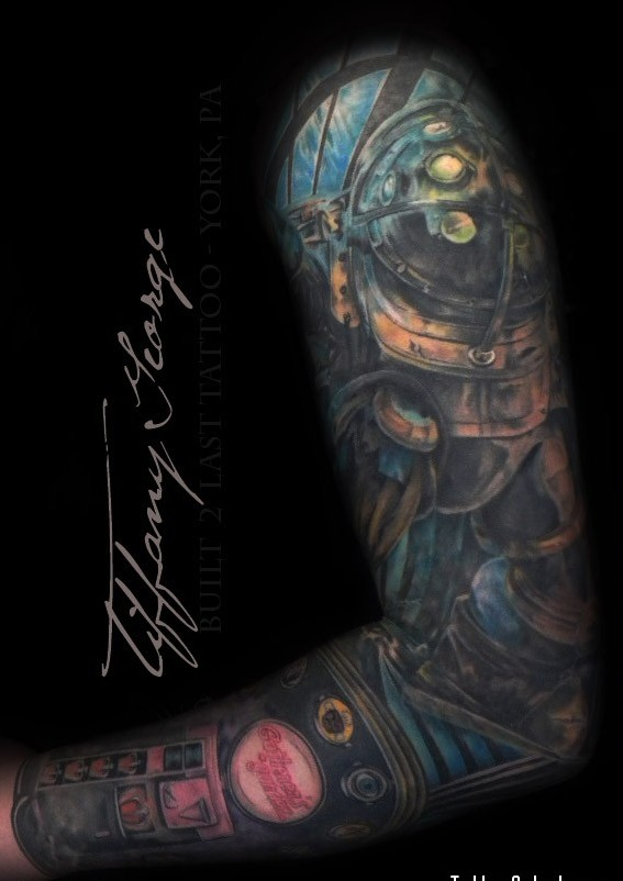 Bioshock Sleeve Tattoos