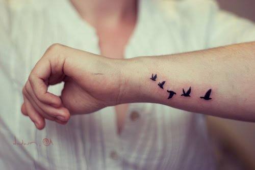 Birds Side Wrist Tattoos