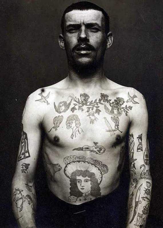 Black And White People Tattoos On Body