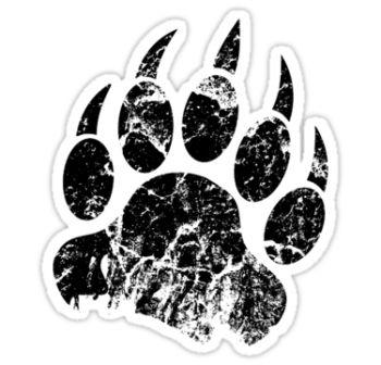 Black Animal Paw Print Tattoo Sticker
