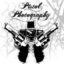 Black Camera And Pistol Tattoo Designs