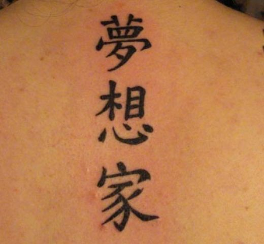 Black Chinese Symbols Tattoos