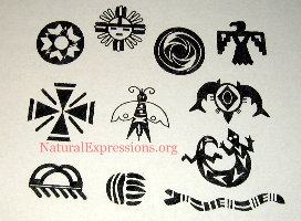 Black Native American Tattoos Sheet