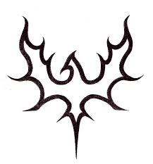 Black Outline Symbol Tattoo Design