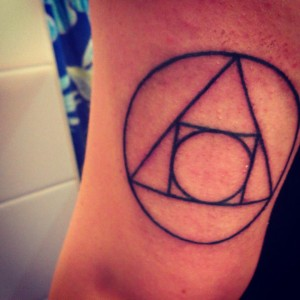 Black Outline Symbol Tattoos