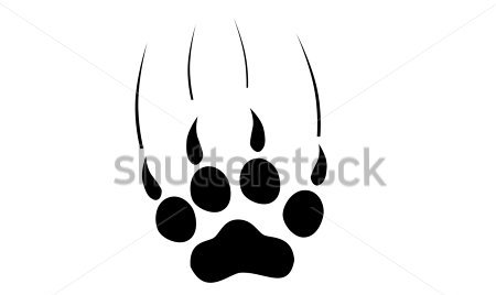 Black Paw Print Of Tiger Tattoo Sample