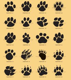Black Paw Print Tattoos Sheet