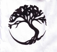 Black Tree Symbol Tattoo Design