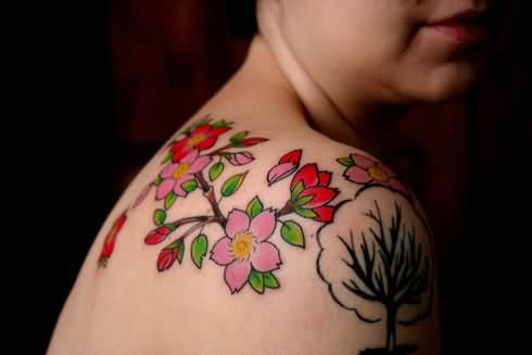 Blossoms And Tree Tattoos For Women