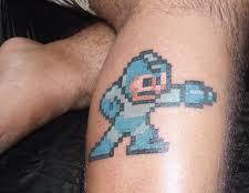 Blue Ink Video Game Tattoo