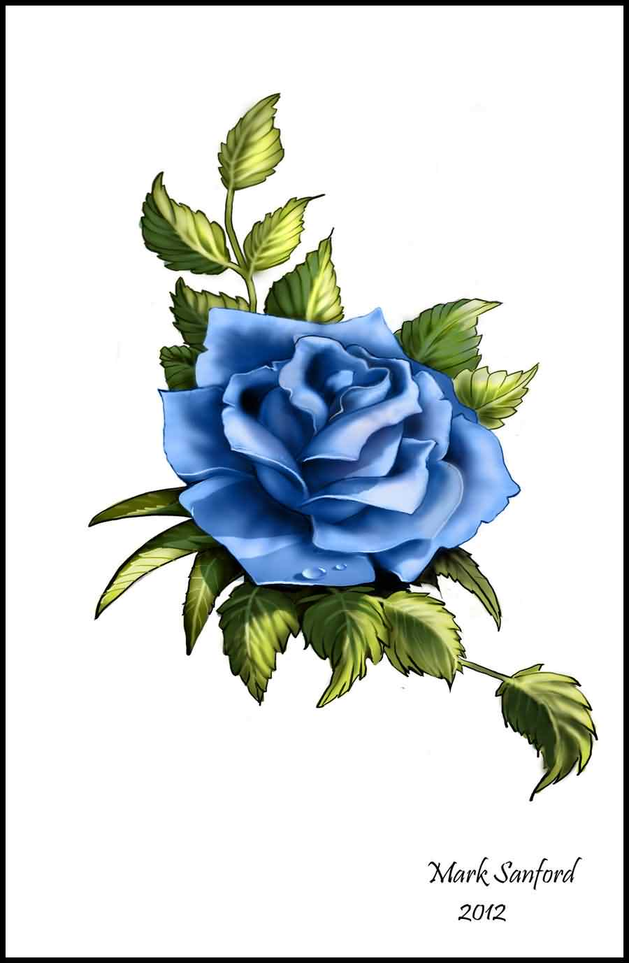 Blue Rose Tattoo Photo