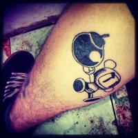 Bomberman Tattoo For Leg