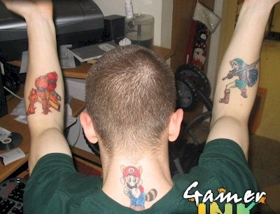 Boy With Video Game Tattoos