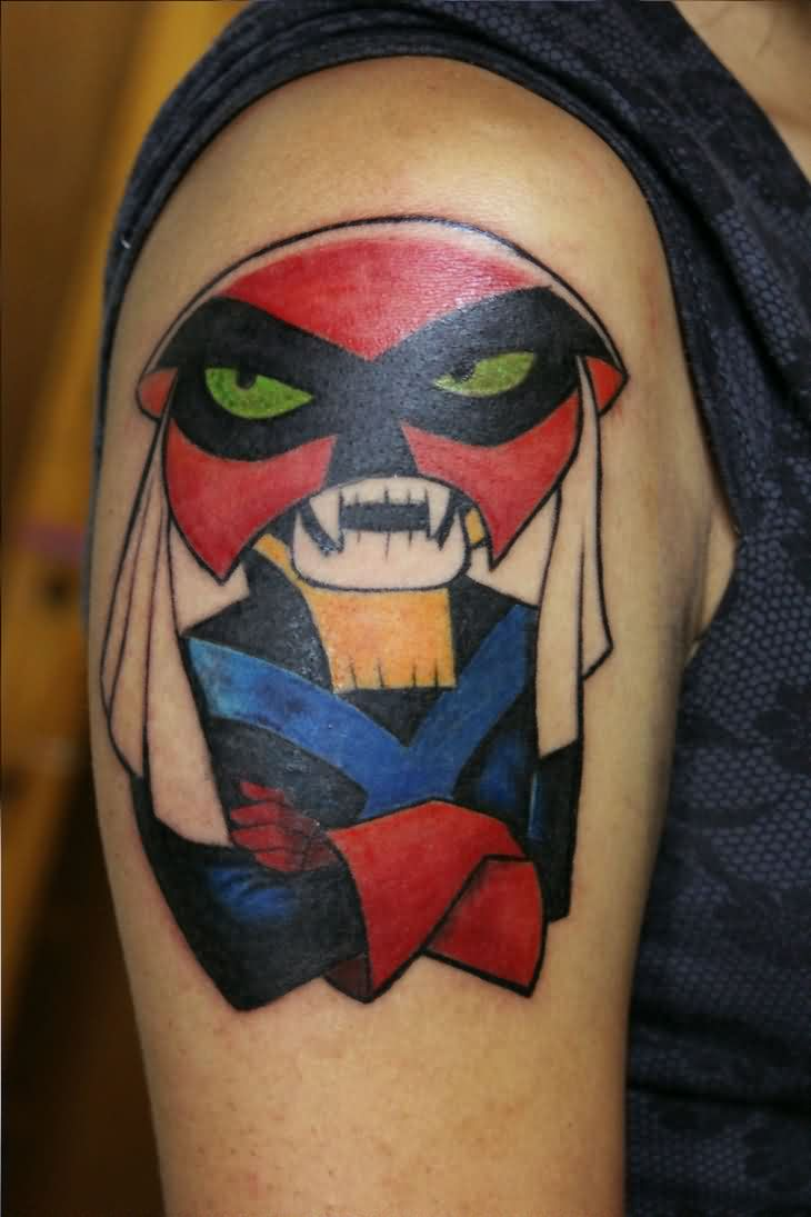 Brak Folding His Arms Tattoo On Upper Arm