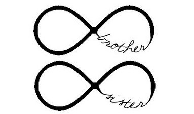 Brother Sister Infinity Symbol Tattoo Designs