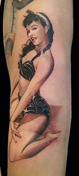 Bttie Page Pin Up Girl Tattoo