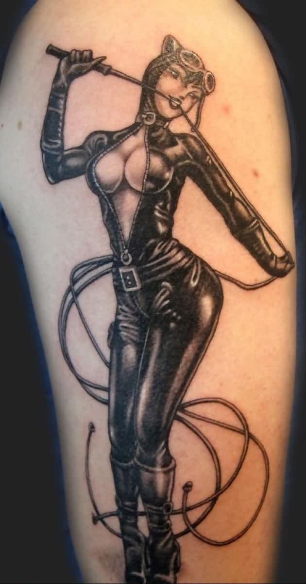 Cat Pinup Girl Tattoo