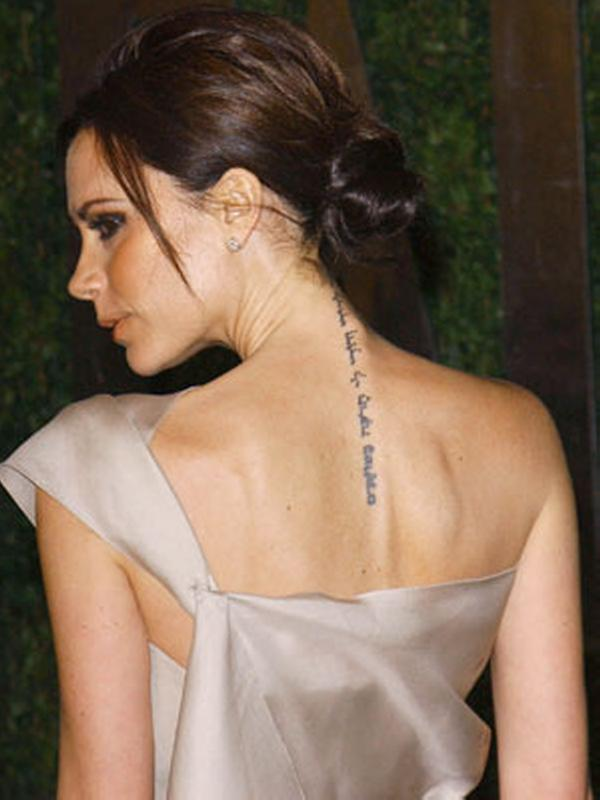 Celebrity Spine Tattoos