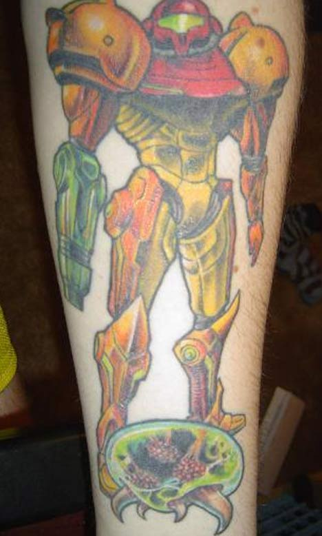 Character Of Video Game Tattoo