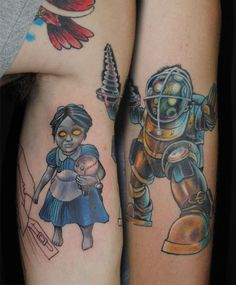 Characters Of Video Game Tattoos