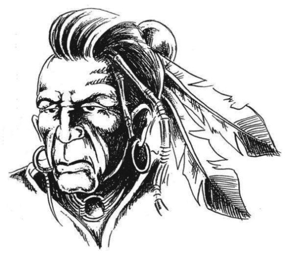 Cherokee Native American Tattoo Sample
