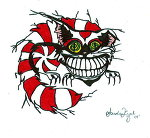 Cheshire Cat Tattoo Stencil