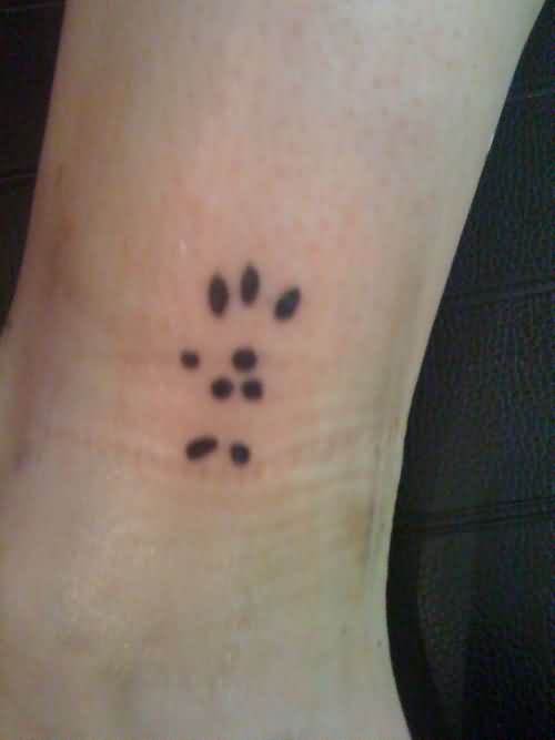 Chinchilla Paw Tattoo