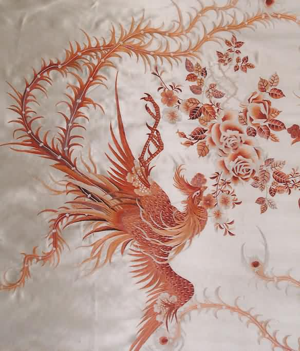 Chinese Phoenix And Flower Tattoo Designs