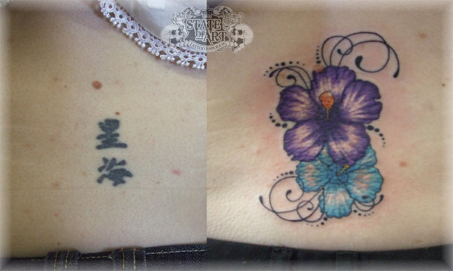 Chinese Symbol Cover Up Tattoos