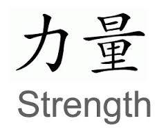 Chinese Symbols For Strength Tattoo Design