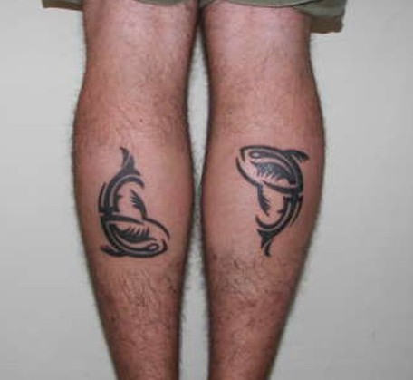 Clean Pisces Zodiac Tattoos On Back Legs