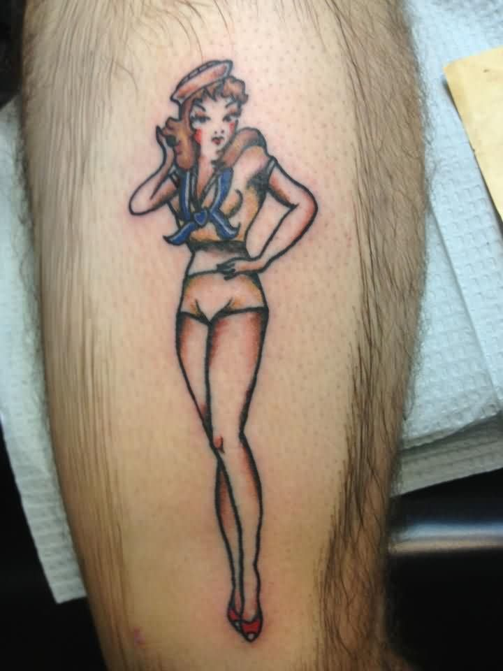 Clean Sailor Jerry Pin Up Tattoo