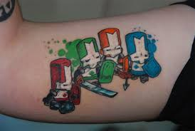 Colorful Gaming Tattoos On Biceps