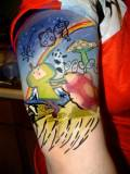 Colorful Video Game Sleeve Tattoos