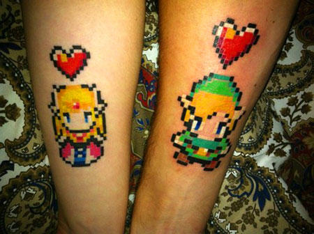 Cool 8 Bit Video Game Tattoos
