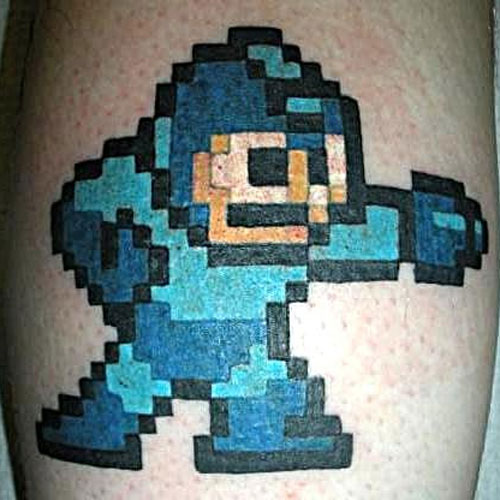 Cool 8 Pixel Video Game Tattoo