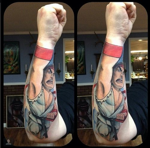 Cool Video Game Tattoo Specially For Men