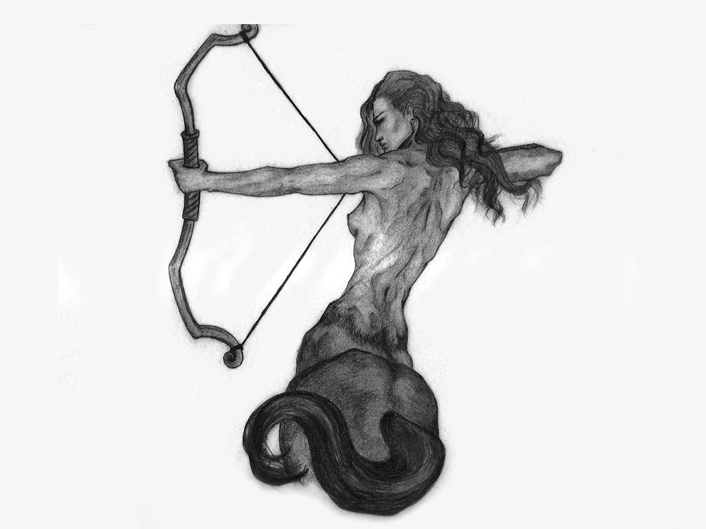 Cool Zodiac Sagittarius Sign Tattoo Design