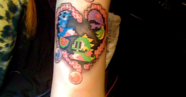 Coral Davies And Bubble Bobble Tattoos