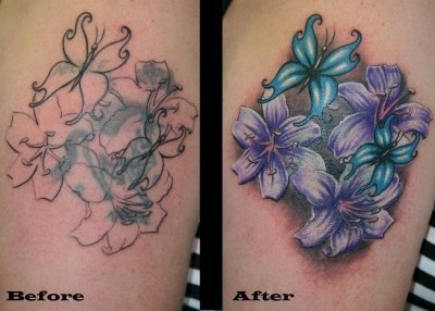 Cover Up Flowers Tattoos