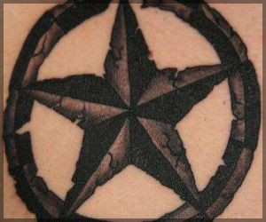 Cracked Nautical Star Tattoo
