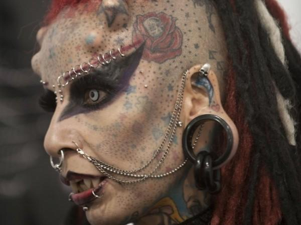 Crazy People's Face Tattoos