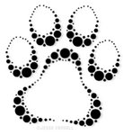 Crop Circles Paw Tattoo Sample