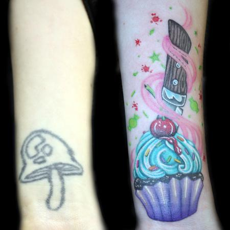 Cupcake Cover Up Wrist Tattoos